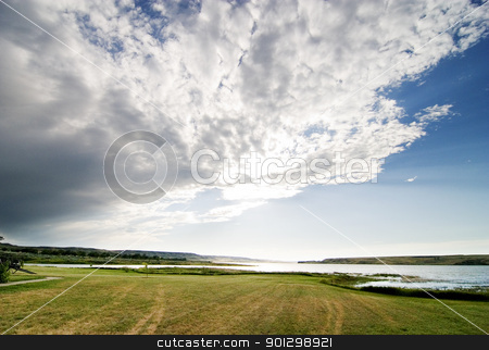 Lake Diefenbaker stock photo, Lake Diefenbaker, at the Saskatchewan Landing by Tyler Olson