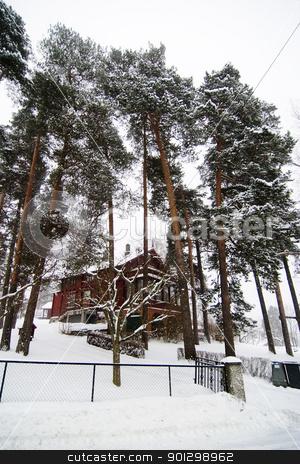 Winter Villa stock photo, Nordstrand Villa in winter by Tyler Olson