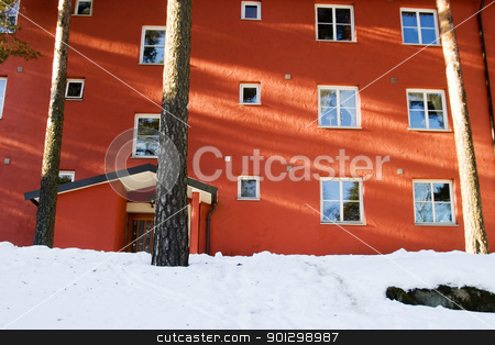 Apartment in Winter stock photo, Apartment building in Oslo, Norway by Tyler Olson