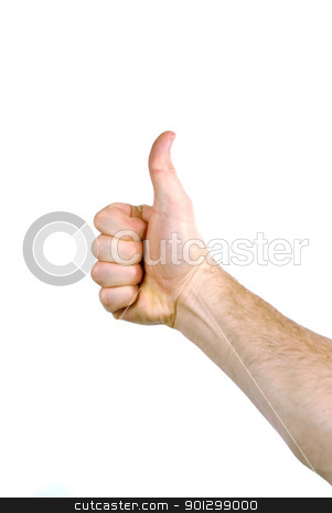 Thumbs Up stock photo, The hand of a man holding a thumb up by Tyler Olson
