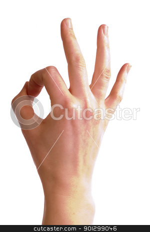 Perfect stock photo, An adult female hand show the 'perfect' sign, with clipping path. by Tyler Olson