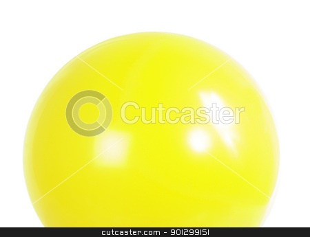 Yellow Baloon stock photo, A yellow baloon isolated on white with clipping path. by Tyler Olson