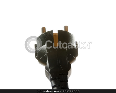 European Plug In stock photo, A european plug in, isolated on white with clipping path. by Tyler Olson