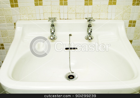Old Fashioned Sink stock photo, An old fashioned bathroom sink. by Tyler Olson