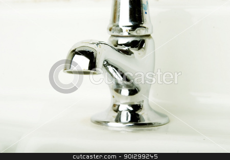 Retro Tap stock photo, A retro bathroom sink tap detail. by Tyler Olson
