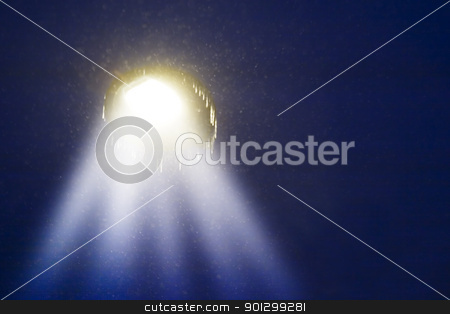 Abstract Light stock photo, A night sky with a 'ufo'. by Tyler Olson