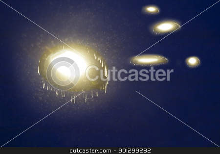 Abstract Light stock photo, A night sky filled with ufos, abstract motion blur image. by Tyler Olson