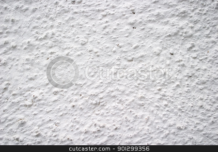 Plaster Texture stock photo, White plaster on an outside wall texture surface. by Tyler Olson