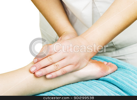 Foot Massage stock photo, Foot massage detail image. by Tyler Olson