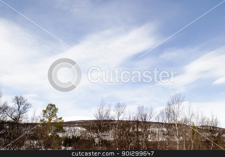 Mountain Landscape stock photo, A wintery mountain landscape by Tyler Olson