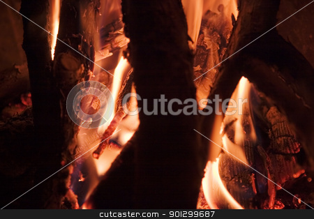 Fire Detail stock photo, Fire detail texture image. by Tyler Olson