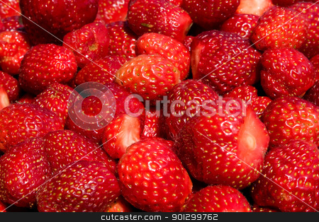 Strawberry Texture stock photo, A background of fresh strawberries by Tyler Olson