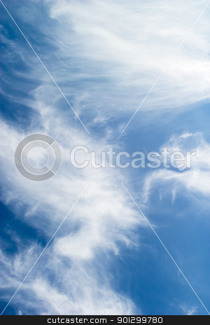 Cloud Abstract stock photo, A cloud abstrct background image with whistful clouds and a deep blue sky by Tyler Olson