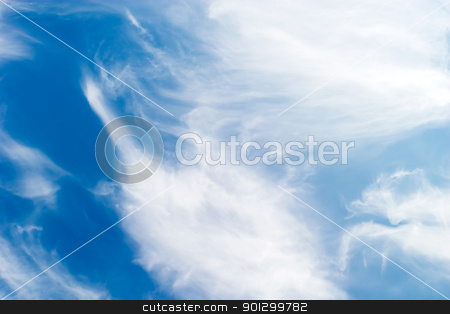 Altostratus Cloud Background stock photo, A cloud abstrct background image with whistful clouds and a deep blue sky by Tyler Olson
