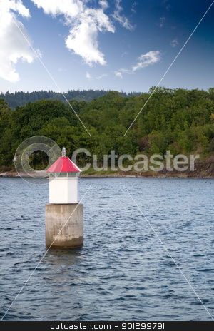 Ocean Buoy stock photo, A buoy on the ocean in Norway; by Tyler Olson