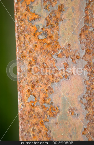 Orange Rust Texture stock photo, An orange and brown rust background texture image. by Tyler Olson