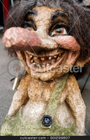 Norwegian Troll stock photo, A happy troll looking at the camera by Tyler Olson
