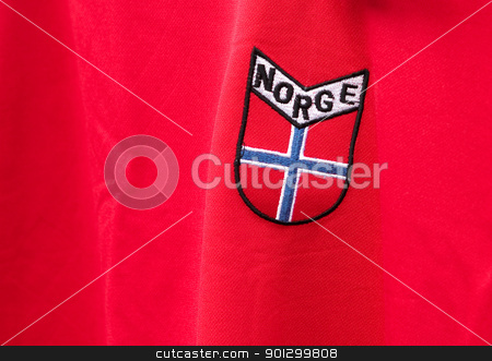 Norway Emblem stock photo, A norwegian emblem on a shirt by Tyler Olson