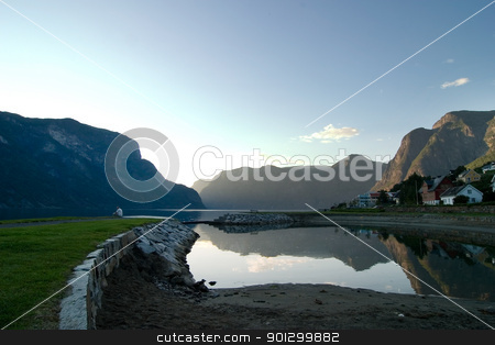 Evening Fjord stock photo, Fjord in western Norway by Tyler Olson