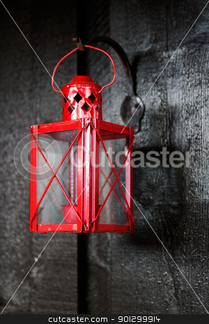 Camp Lantern stock photo, An old camping lantern for a tea light by Tyler Olson