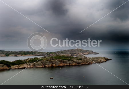 Ocean Coast stock photo, The coast of norway with storm like weather by Tyler Olson