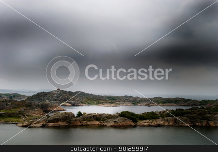 Norway Coast stock photo, The coast of norway with storm like weather by Tyler Olson