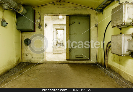 Industrial Room stock photo, An abstract industrial cellar. by Tyler Olson