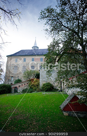 Old Castle stock photo, An old medieval defense structure in Oslo Norway.  Akershus festning by Tyler Olson