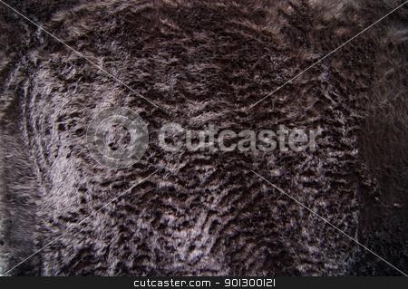 Black Fun Fur stock photo, A black fun fur textile texture image. by Tyler Olson
