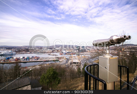 Oslo View stock photo, View from ekeberg restaurant, Oslo, Norway by Tyler Olson