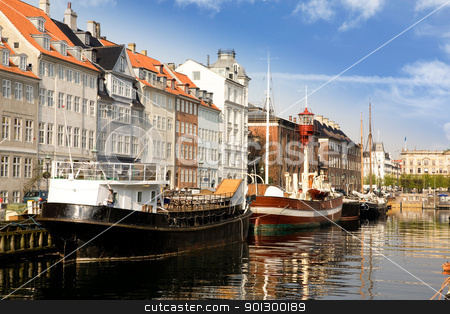 Copenhagen stock photo, Docks in copenhagen on a warm summer day by Tyler Olson