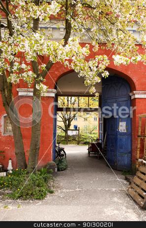 Christiania Detail stock photo, A door in Christiania - an area of Copenhagen, Denmark by Tyler Olson