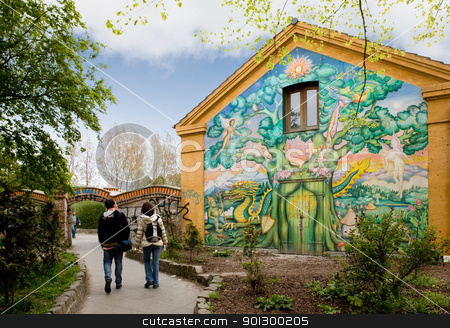 Christiania Detail stock photo, Entrace to Christiania - an occupied area of Copenhagen, Denmark by Tyler Olson