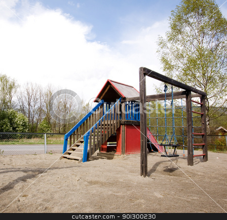 Playground Detail stock photo, A typical playground with sand on the ground by Tyler Olson