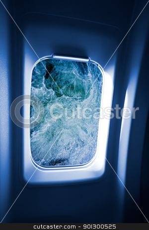 Submarine Porthole stock photo, An underwater image through a submarine porthole by Tyler Olson