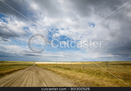Prairie Road stock photo, A country road stretching into the distance by Tyler Olson