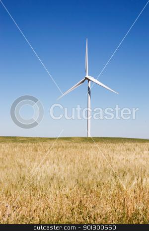 Praire Wind Turbine stock photo, A wind turbine on the beautiful prairies by Tyler Olson