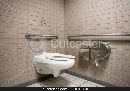 Public Bathroom stock photo, A public bathroom in an airport by Tyler Olson