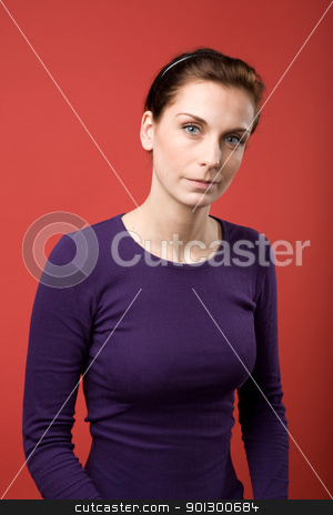 Female Portrait stock photo, A casual portrait of a brunette caucasian female by Tyler Olson
