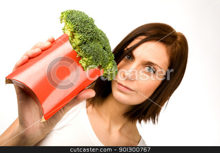 Fast Food stock photo, A female with a fast food healthy snack by Tyler Olson
