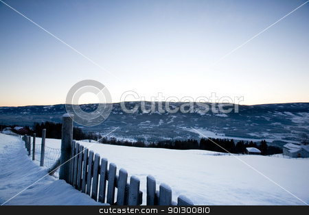 Snow Landscape stock photo, A snowy landscape in Norway by Tyler Olson