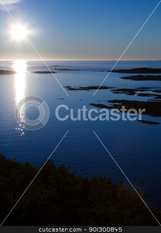 Cold Ocean Landscape stock photo, A cold landscape of coastal ocean. by Tyler Olson