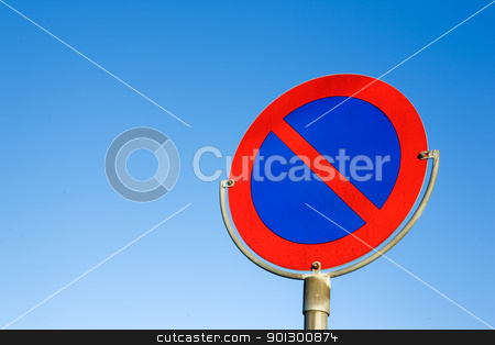 No Parking Sign stock photo, A no parking sign with copy space by Tyler Olson