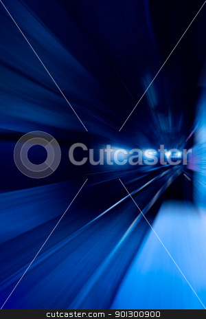 Speed Motion stock photo, A blue motion conept image - moving train by Tyler Olson