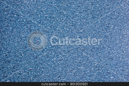 Linoleum Texture stock photo, Background texture of abstract blue ripples  by Tyler Olson