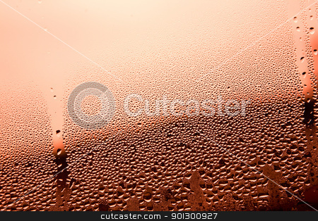 Water Droplet Background - Green stock photo, Red water drop background surface texture by Tyler Olson