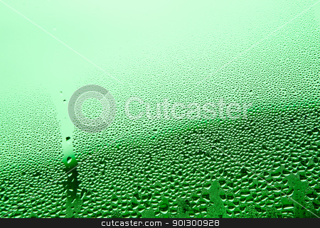Water Droplet Background - Green stock photo, Green water drop background surface texture by Tyler Olson