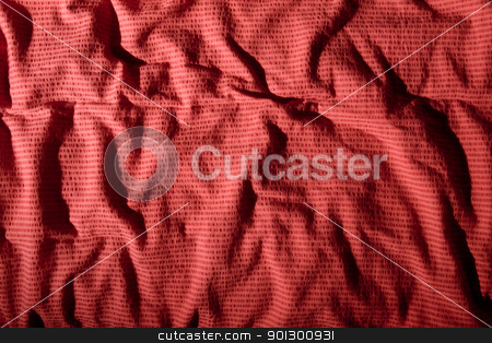 Wrinkled Cloth stock photo, Winkled cloth background surface texture; by Tyler Olson