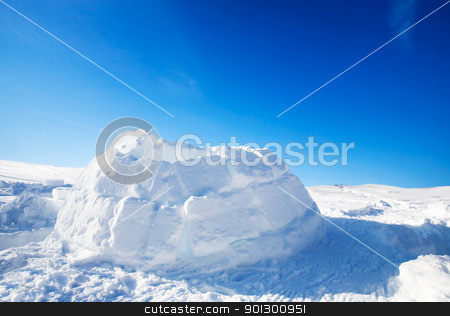 Igloo Building Detail stock photo, A half built igloo by Tyler Olson