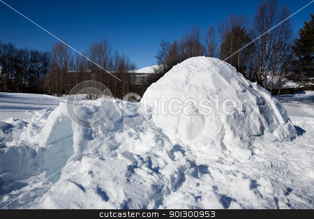 Igloo stock photo, An igloo in a winter landscape by Tyler Olson